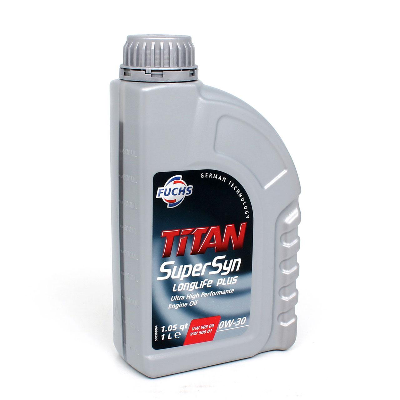FUCHS Motoröl TITAN 0W-30 0W30 SuperSyn LongLife Plus VW 503.00 506.01 1Liter 1L