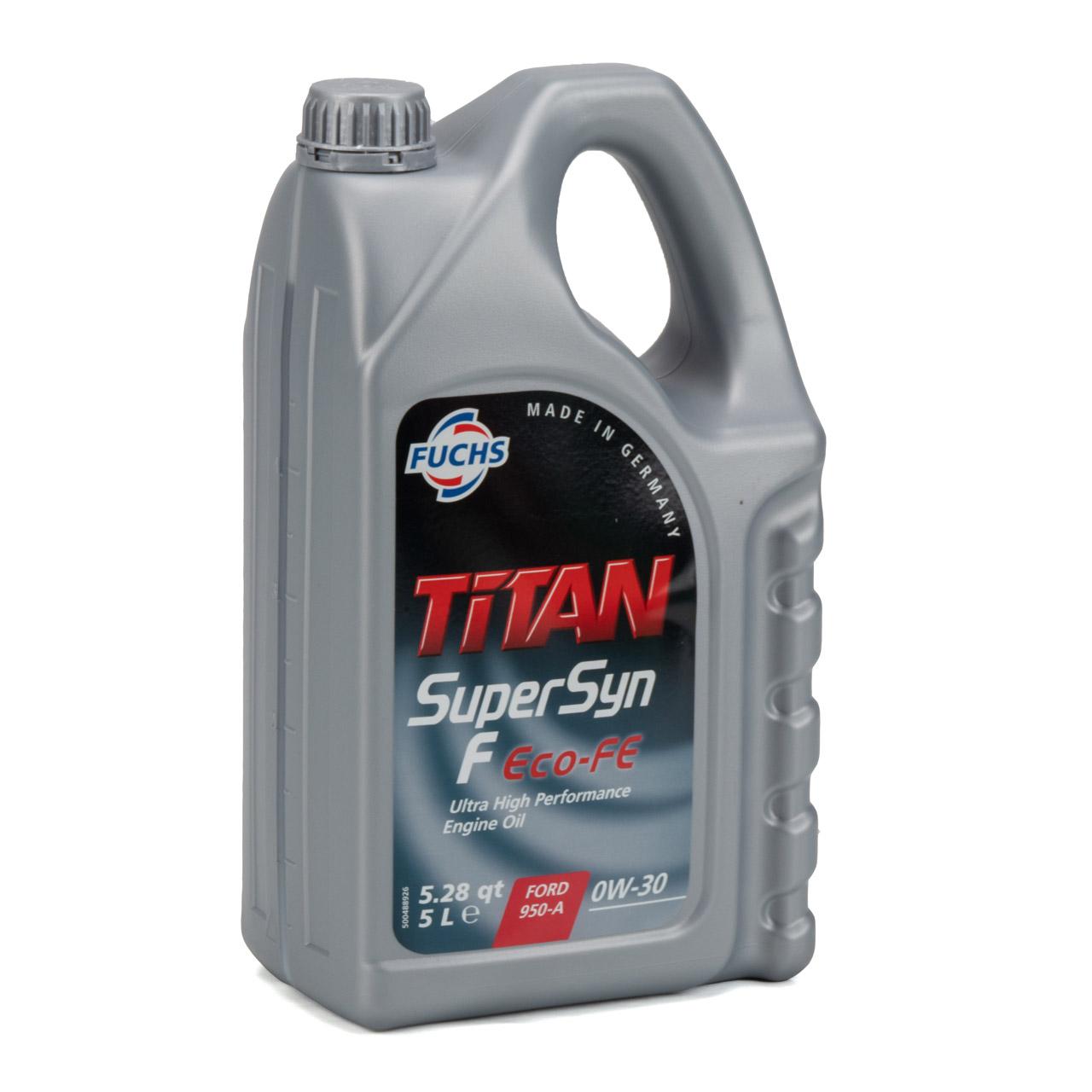FUCHS Motoröl ÖL TITAN SUPERSYN F ECO-FE 0W30 für FORD WSS-M2C950-A - 5L 5 Liter