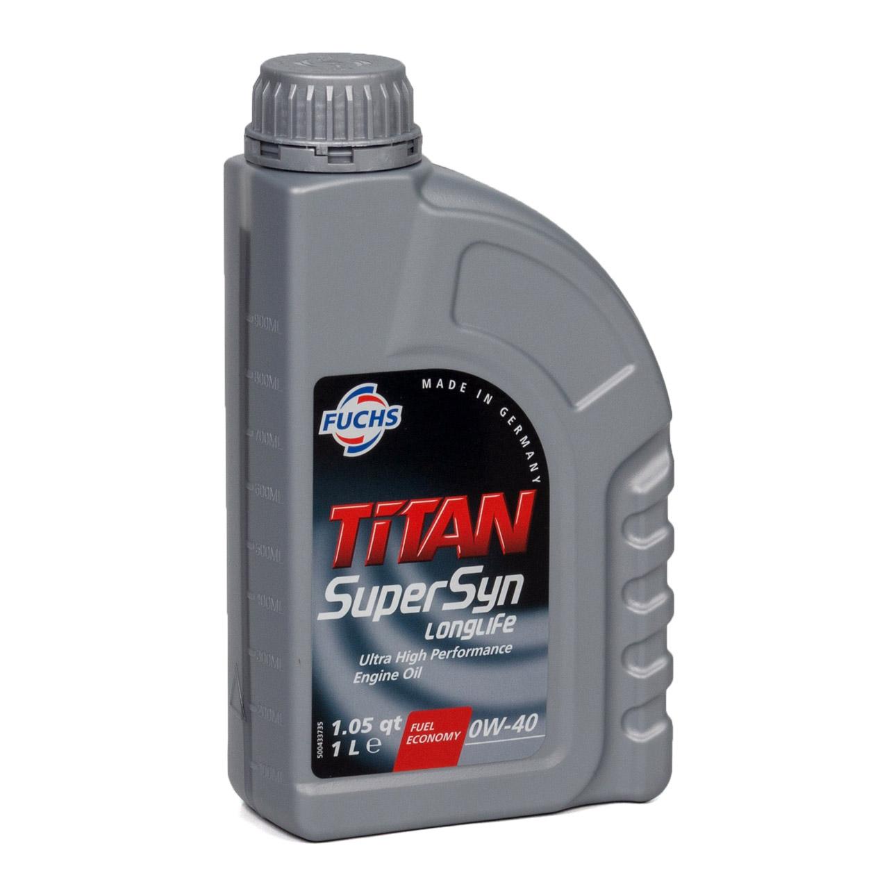 FUCHS MOTORÖL TITAN SuperSyn Longlife 0W-40 ACEA A3/B4 FORD M2C937-A 4L 4 Liter