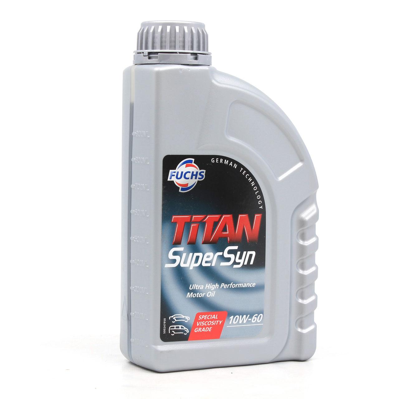 FUCHS Motoröl Öl TITAN SuperSyn ACEA A3/B3 SL/CF 10W-60 10W60 - 10L 10 Liter