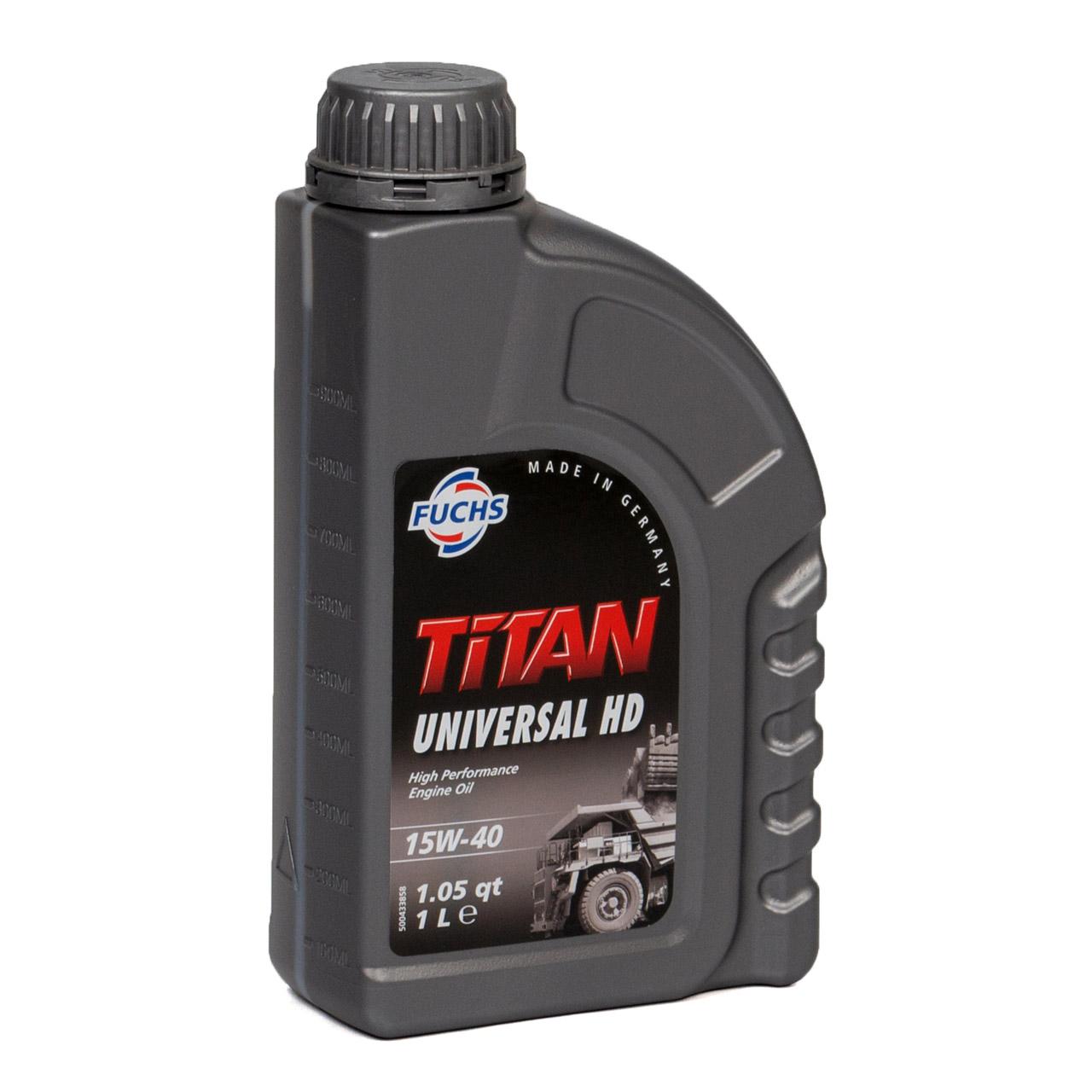 FUCHS Motoröl Öl TITAN UNIVERSAL HD ACEA A3/B3/B4 15W-40 15W40 1L 1 Liter