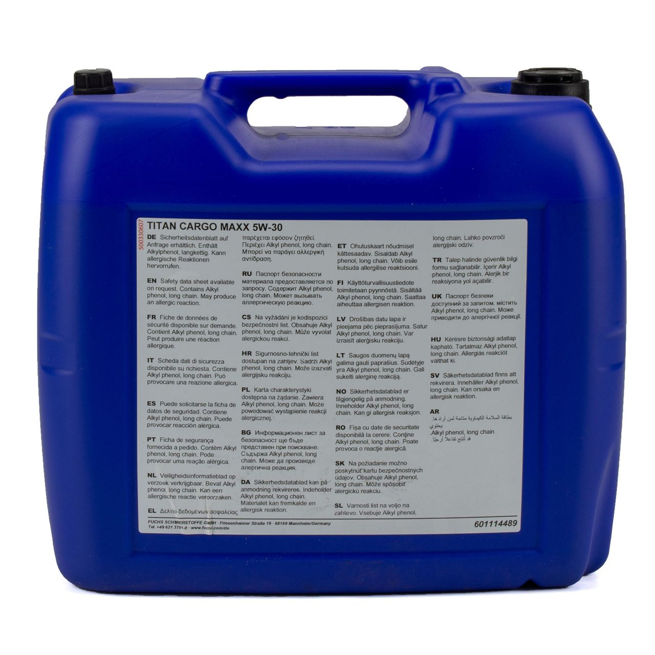 FUCHS Motoröl Öl TITAN CARGO MAXX 5W-30 5W30 NFZ Dieselfahrzeuge - 20L 20 Liter