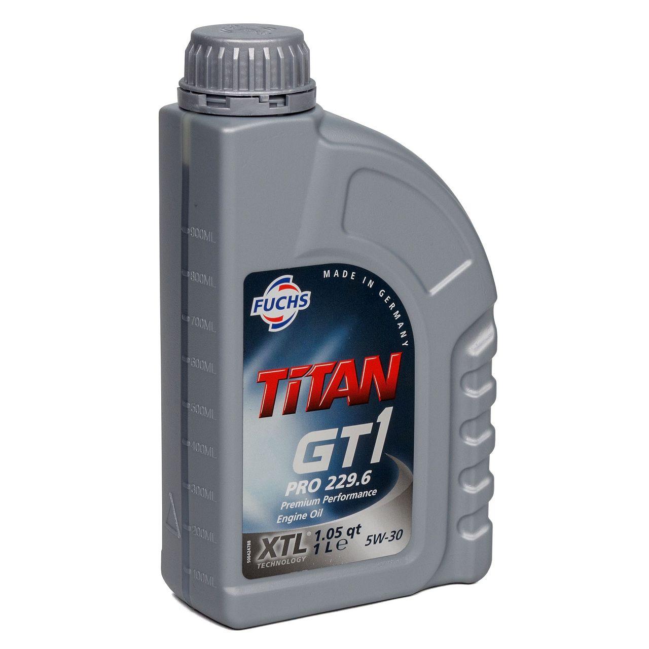 FUCHS Motoröl Öl TITAN GT1 PRO MB 229.6 A5/B5 5W30 5W-30 - 1L 1 Liter