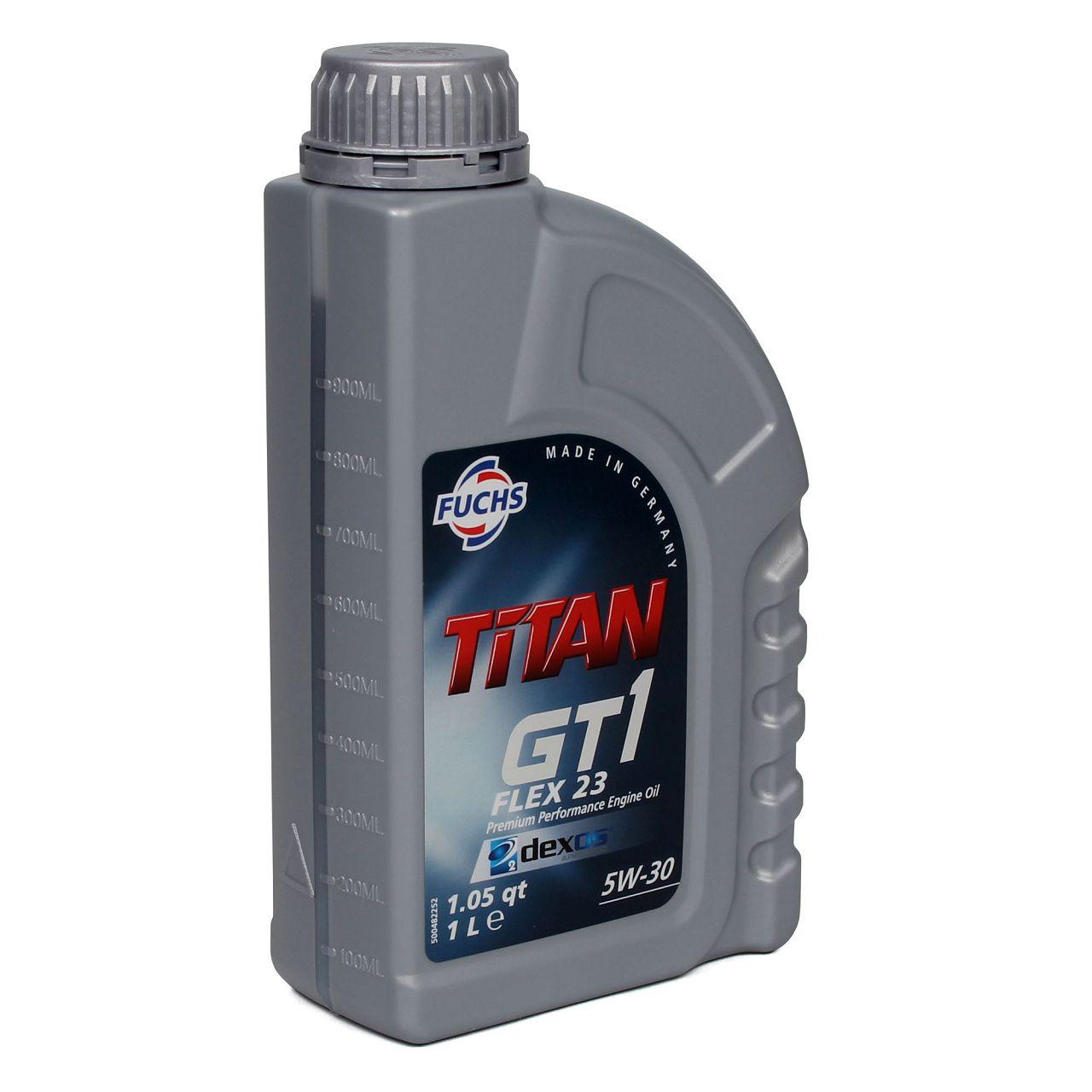 FUCHS Motoröl TITAN GT1 Flex 23 5W30 5W-30 dexos2 LL-04 505.00/505.01 6L 6 Liter