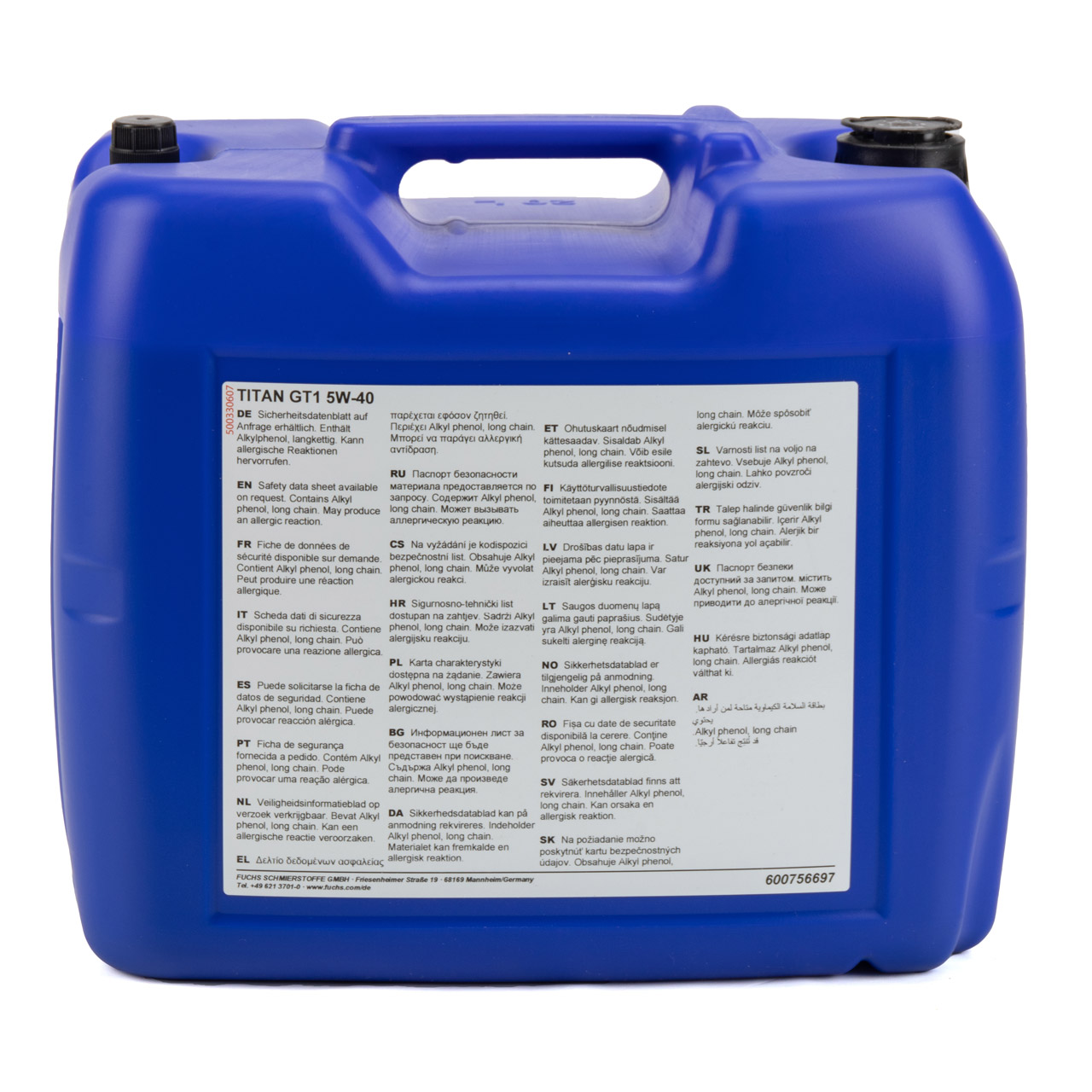 FUCHS Motoröl Öl TITAN GT1 5W-40 5W40 ACEA C3 API SN/SM FORD M2C917-A - 20 Liter