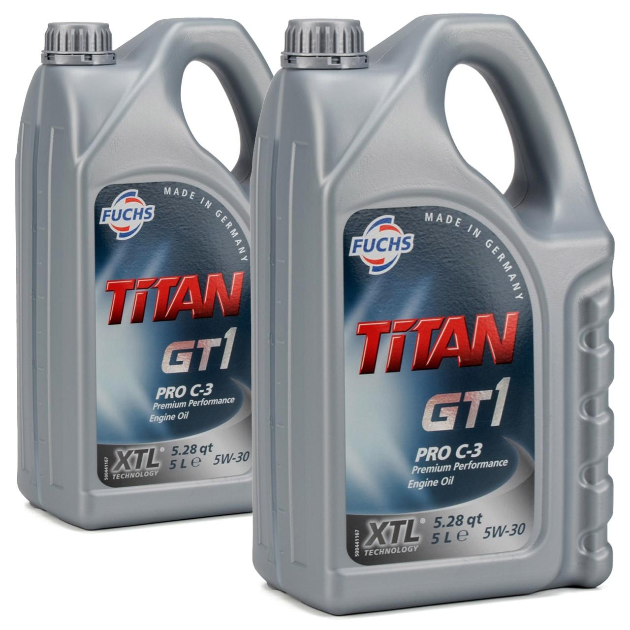 FUCHS MOTORÖL TITAN GT1 Pro C-3 5W30 5W-30 VW 504.00 507.00 MB 229.51 - 10 Liter