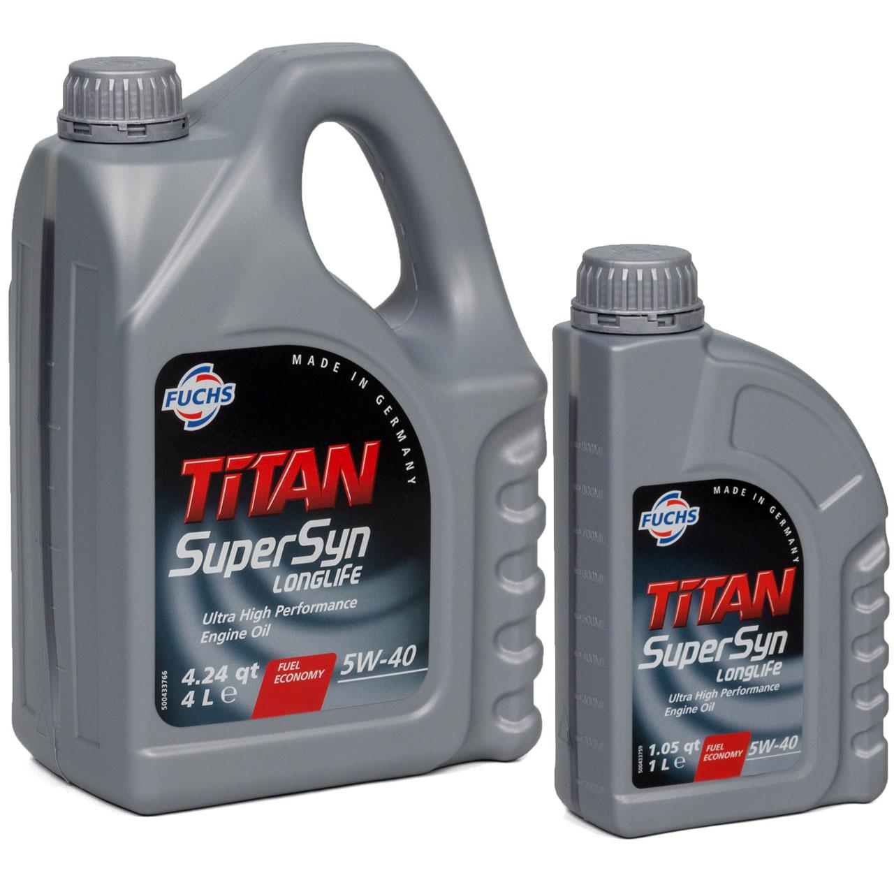 FUCHS Motoröl TITAN SuperSyn LongLife 5W-40 VW 502.00/505.00 MB 229.5 5L 5 LITER