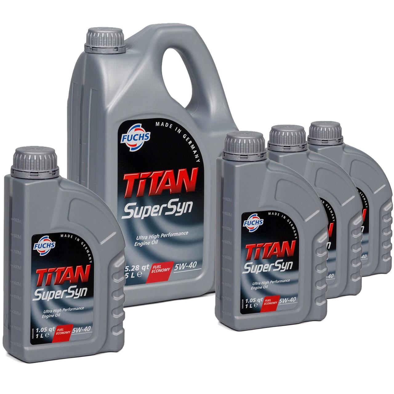 FUCHS MOTORÖL TITAN SuperSyn 5W-40 VW 502.00/505.00 MB 229.3 RN0700 - 9L 9 Liter
