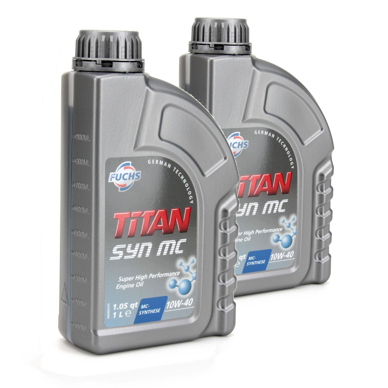 FUCHS MOTORÖL TITAN SYN MC 10W40 ACEA A3/B4 MB 229.3 VW 501.01 505.00 - 2 Liter