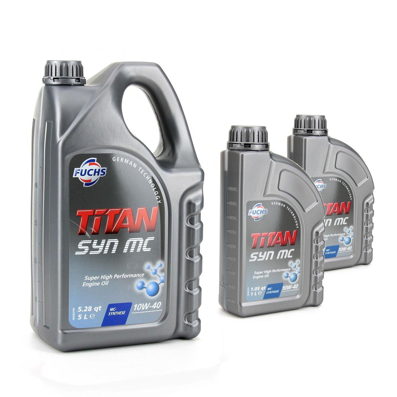 FUCHS MOTORÖL TITAN SYN MC 10W40 ACEA A3/B4 MB 229.3 VW 501.01 505.00 - 7 Liter