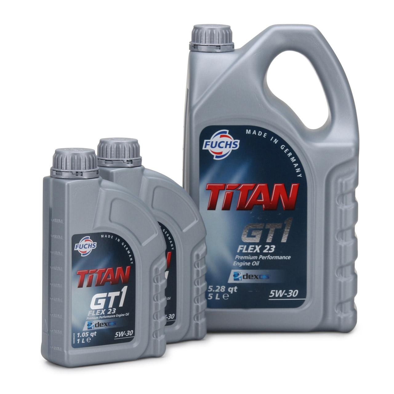 FUCHS Motoröl TITAN GT1 Flex 23 5W30 5W-30 dexos2 LL-04 505.00/505.01 7L 7 Liter