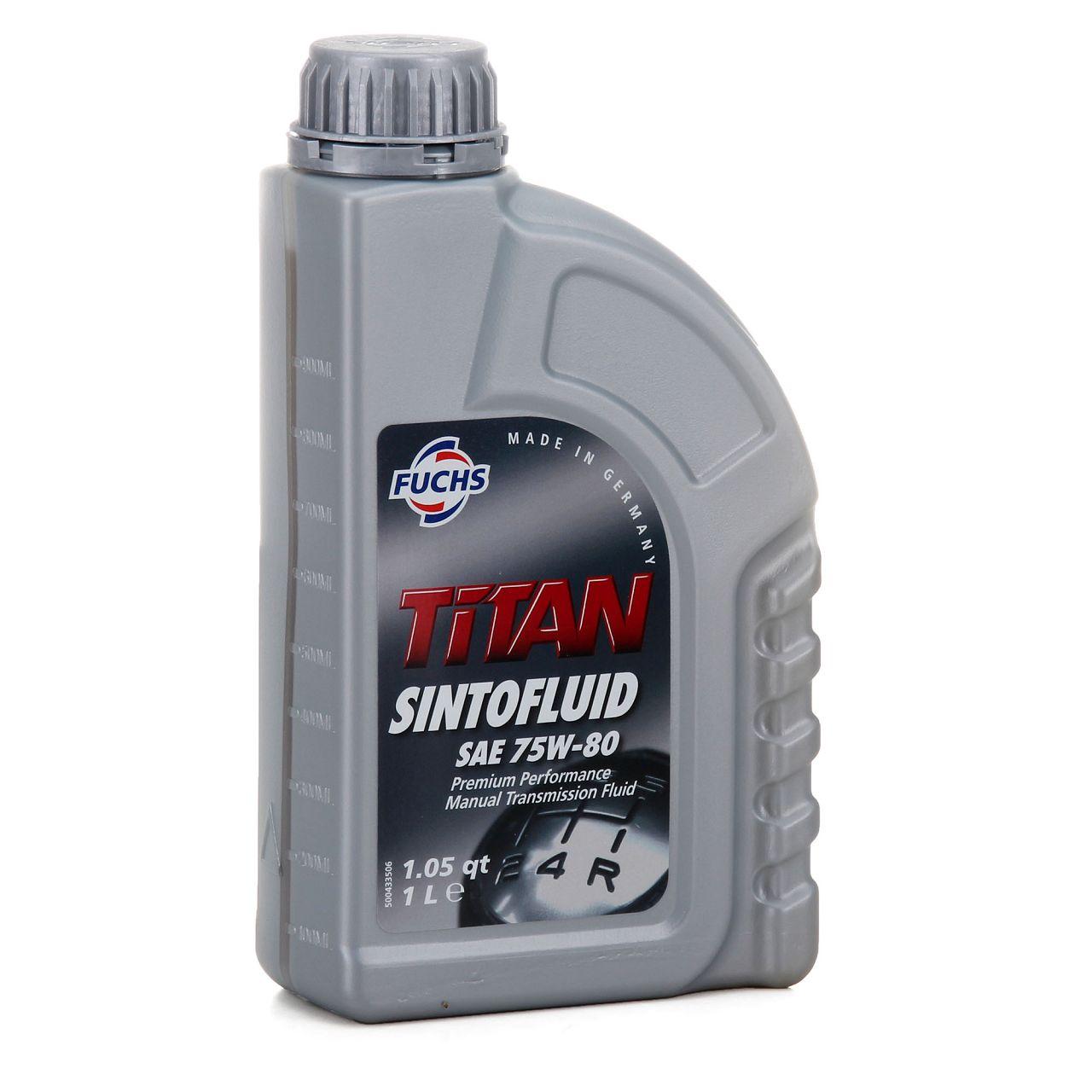 FUCHS Getriebeöl Schaltgetriebeöl TITAN Sintofluid SAE 75W-80 API GL-5 - 1 Liter