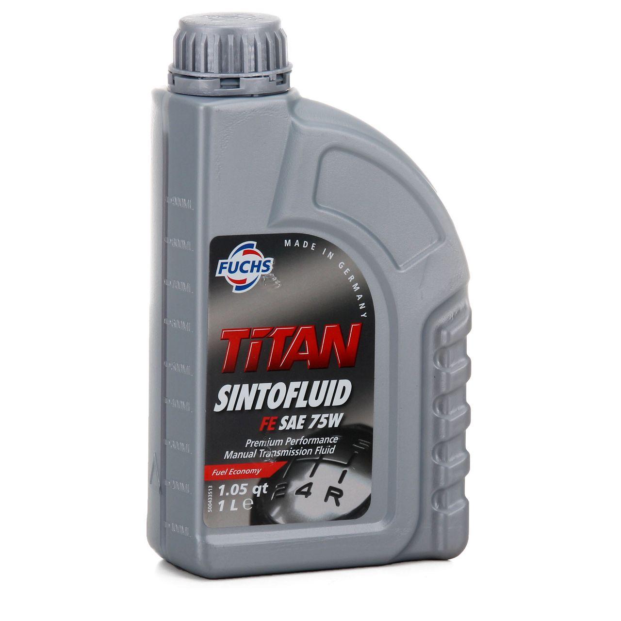 FUCHS Getriebeöl Schaltgetriebeöl TITAN Sintofluid FE SAE 75W API GL-4 - 1 Liter