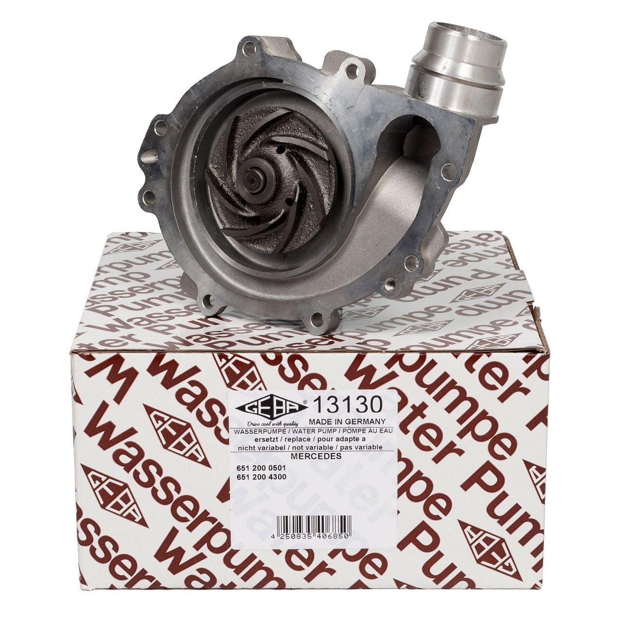 GEBA Wasserpumpe für MERCEDES W176 W246 W242 C117 X117 X156 180CDI 200CDI 220CDI