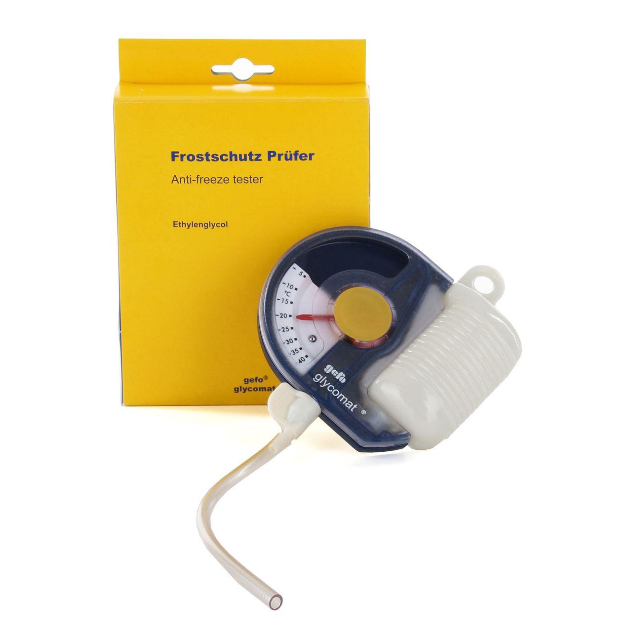 GEFO 1100 Frostschutzprüfer GLYCOMAT Kühler Frostschutz Tester