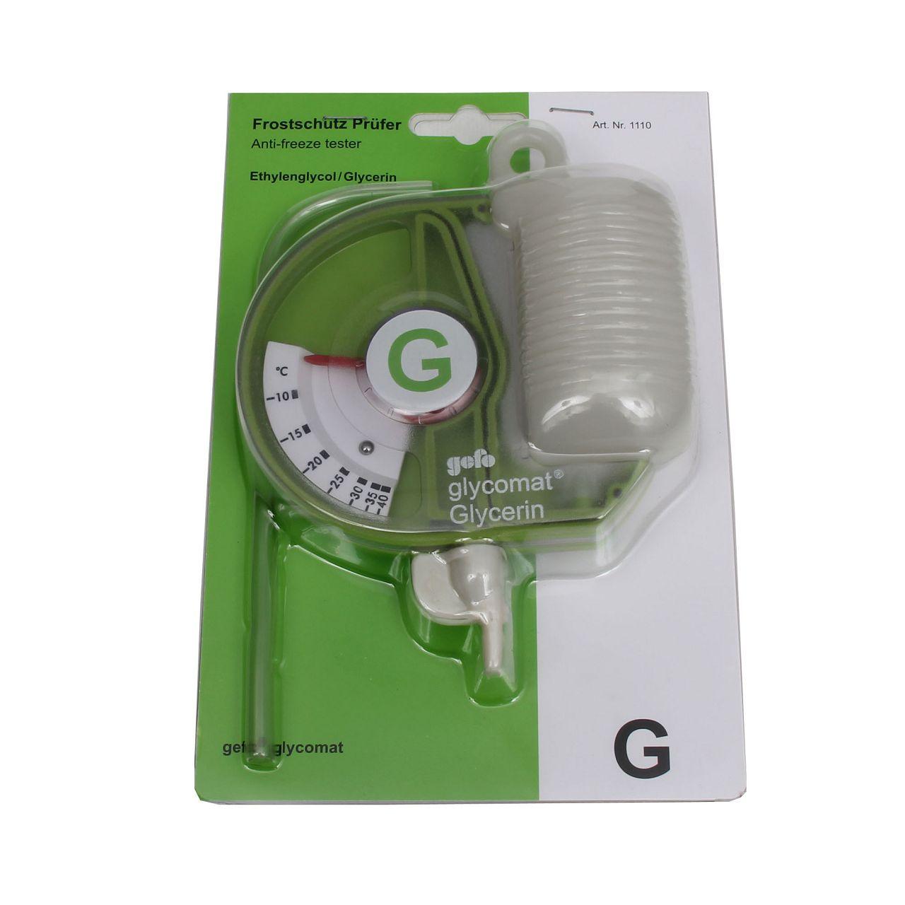 GEFO 1110 Frostschutzprüfer GLYCOMAT Kühlerfrostschutz Prüfer Tester G13