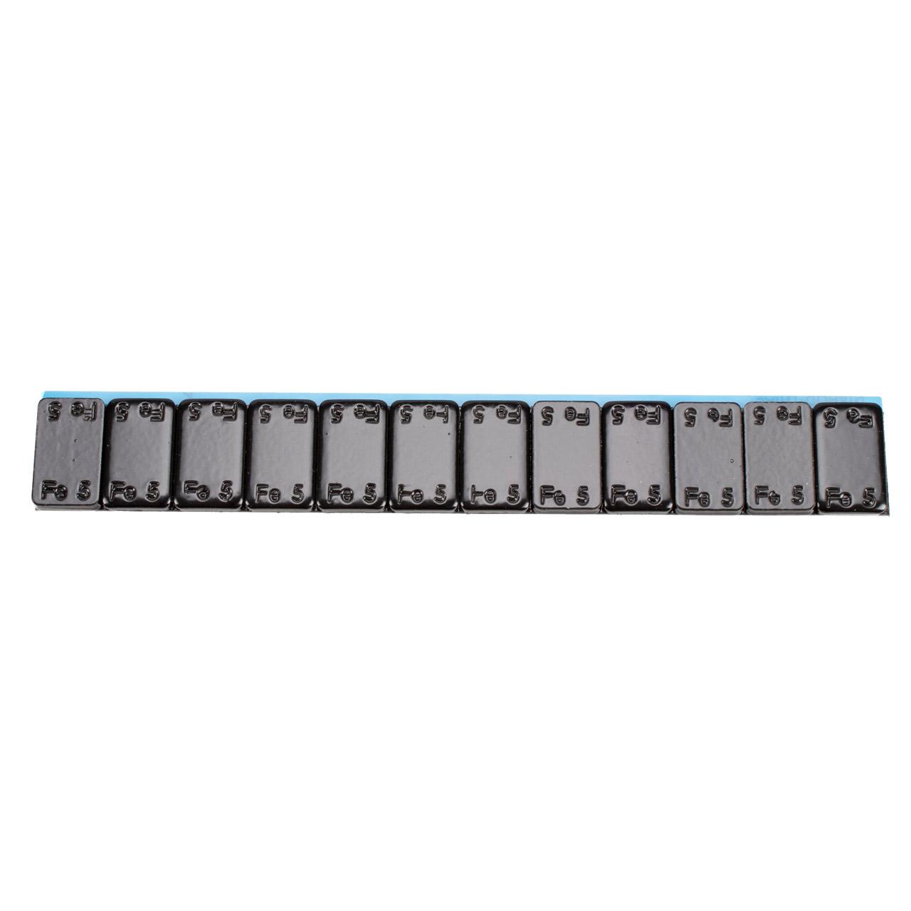 GEMATIC Auswuchtgewicht Klebegewicht Kleberiegel SCHWARZ-STAHL 100 Stück 12x5g