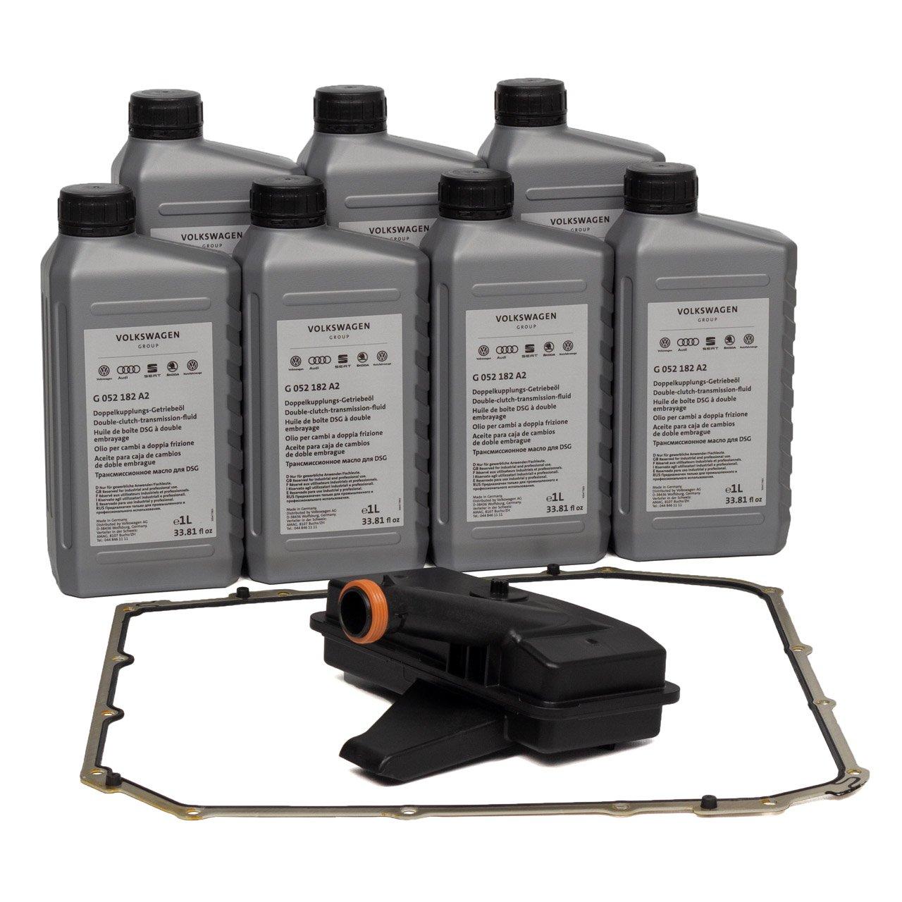 Hydraulikfilter Satz 7-Gang S-Tronic DL501 + 7L ORIGINAL Getriebeöl G052182A2