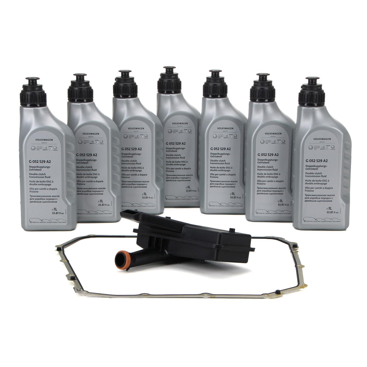 Hydraulikfilter Satz 7-Gang S-Tronic DL501 + 7L ORIGINAL Getriebeöl G052529A2