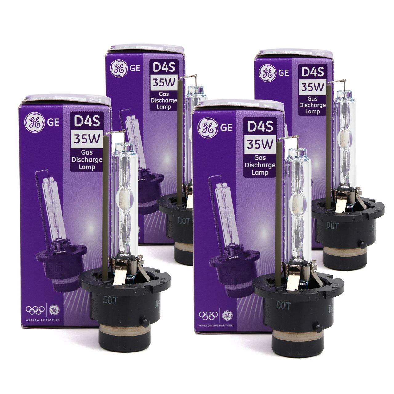 4x GE LIGHTING Xenon Brenner Scheinwerfer Lampe Glühlampe D4S 42V 35W P32d-5