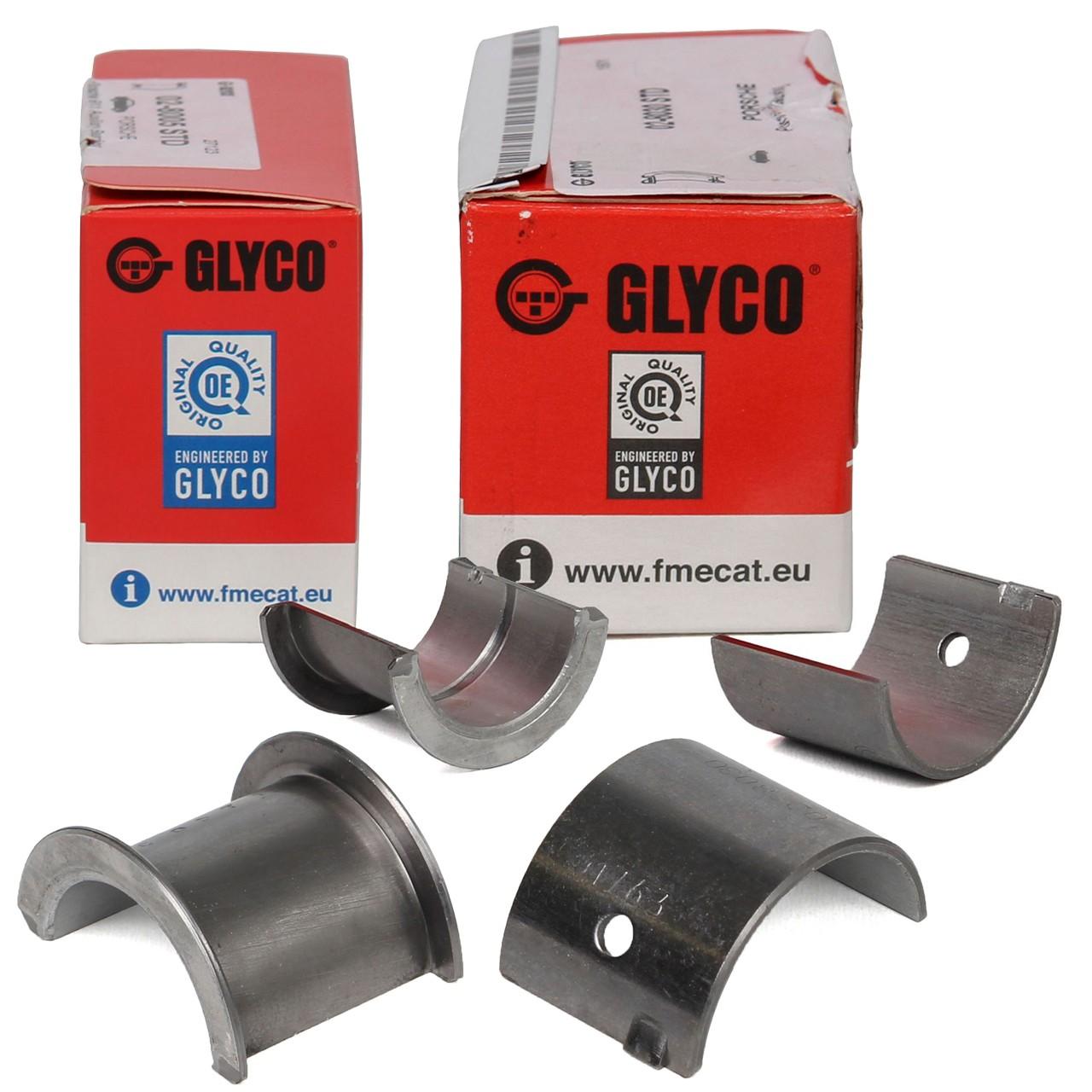 4x GLYCO Lagerschale Zwischenwelle Set PORSCHE 996 997 GT3 / Turbo / GT2