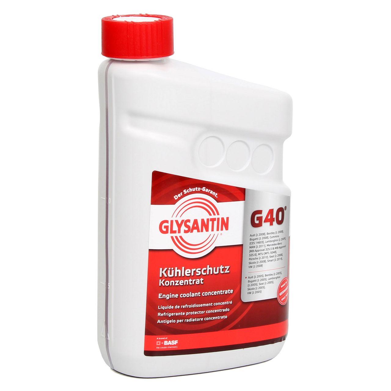 BASF GLYSANTIN Frostschutz Kühlerfrostschutz Konzentrat G40 ROT 1,5 L
