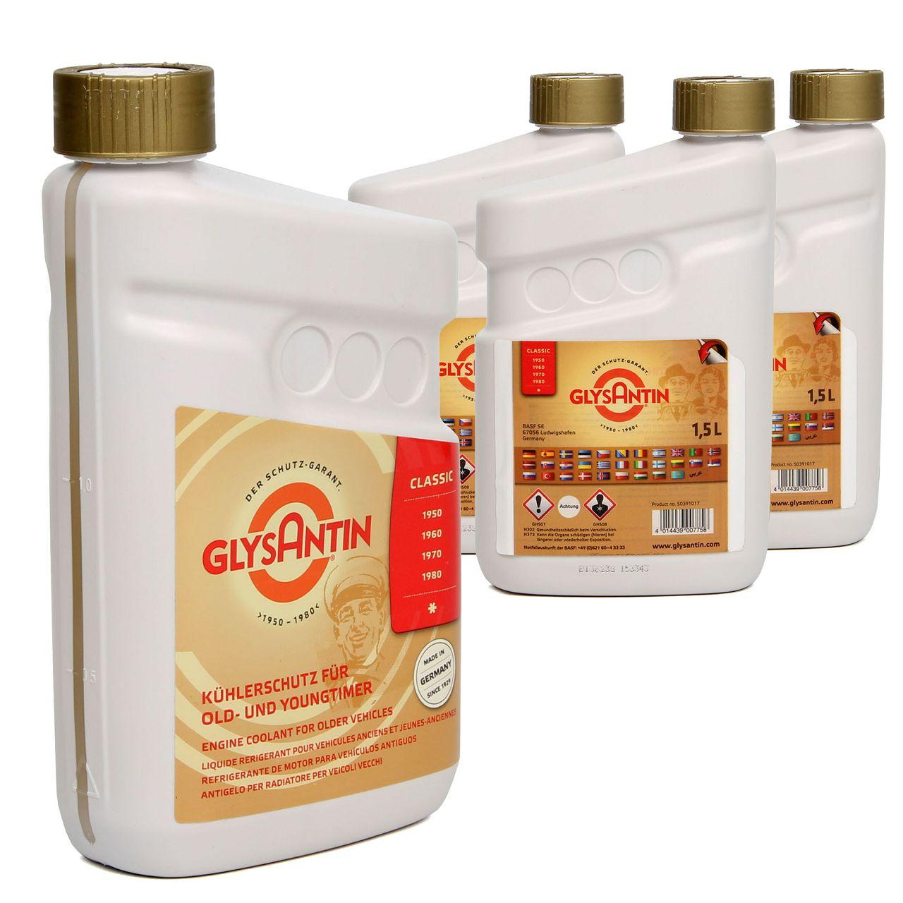 BASF GLYSANTIN Frostschutz Kühlerfrostschutz CLASSIC OLDTIMER YOUNGTIMER 6,0 L