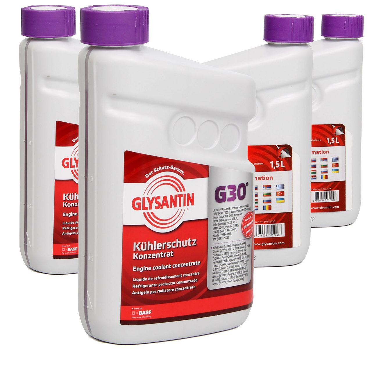 BASF GLYSANTIN Frostschutz Kühlerfrostschutz Konzentrat G30 PINK 6,0 L