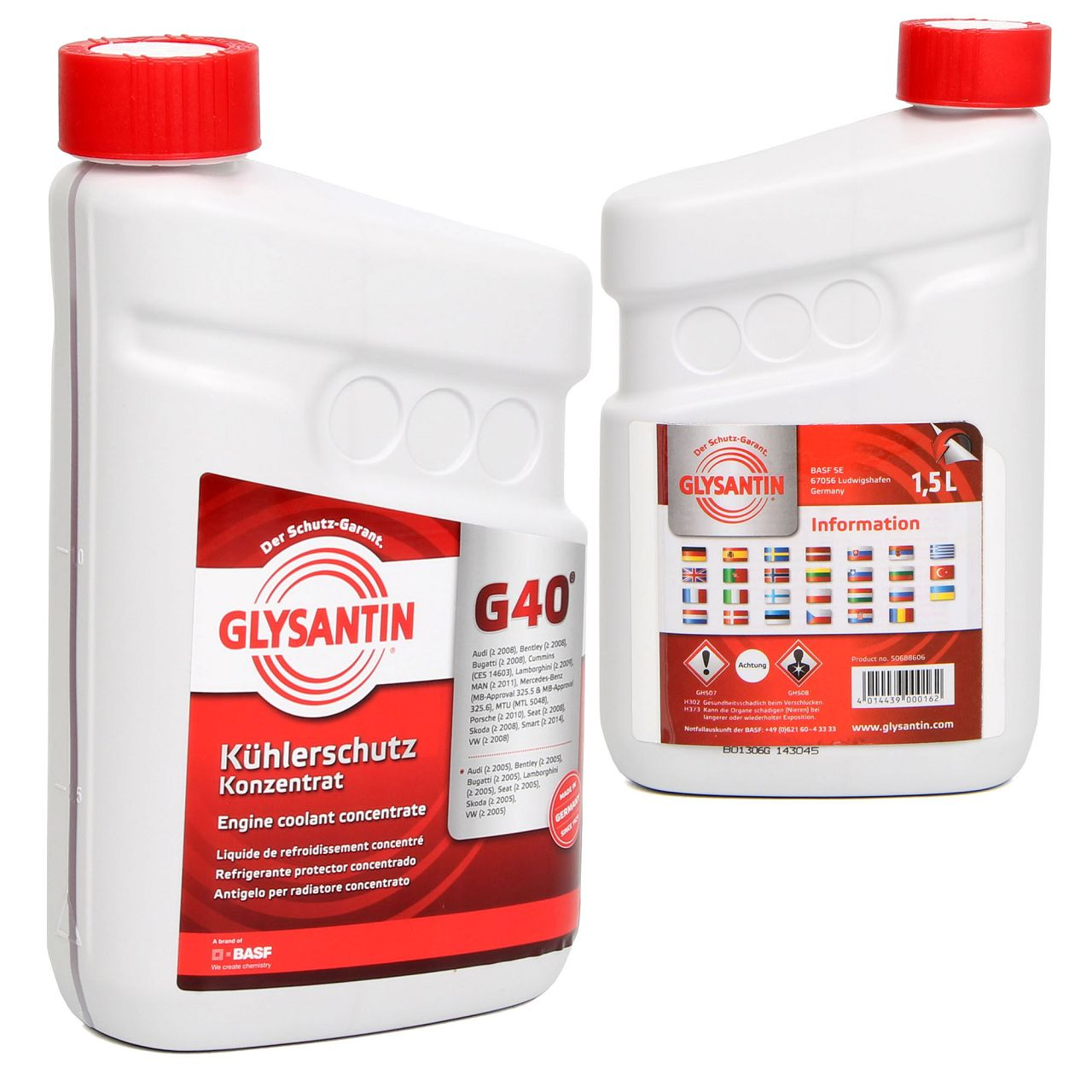 BASF GLYSANTIN Frostschutz Kühlerfrostschutz Konzentrat G40 ROT 3,0 L