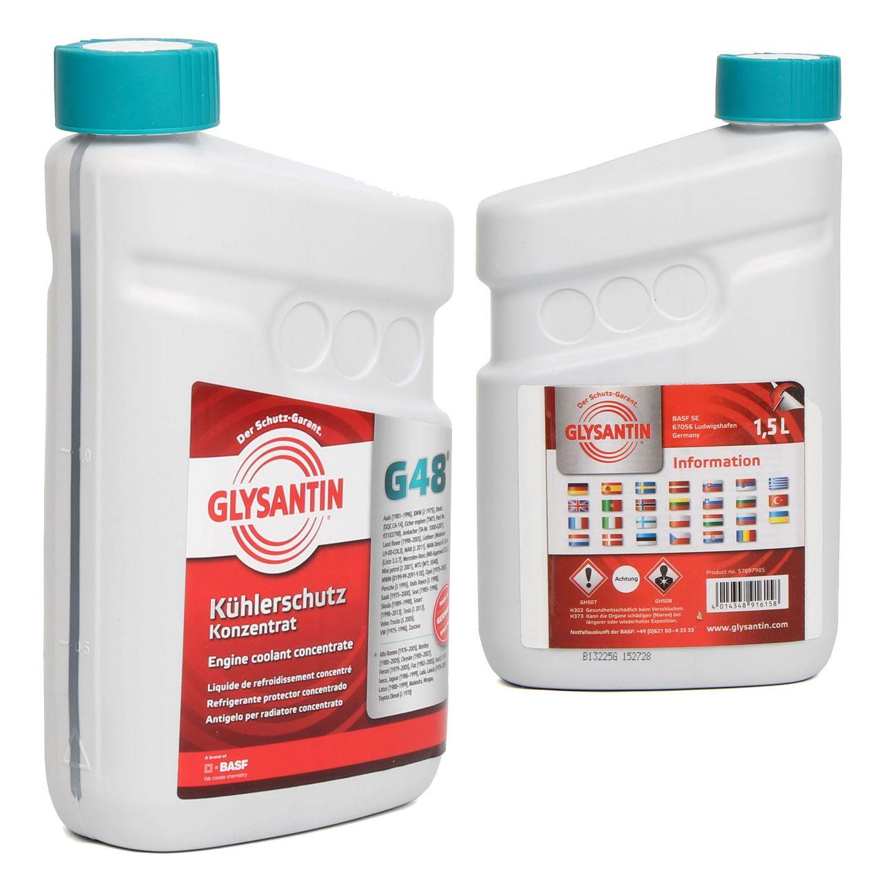 BASF GLYSANTIN Frostschutz Kühlerfrostschutz Konzentrat G48 BLAU/GRÜN 3,0 L