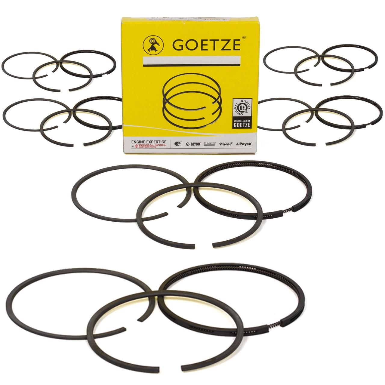 6x GOETZE 08-319500-10 Kolbenringsatz PORSCHE 911 2.2 2.3 T/E/S 69-73 + 912 1.6