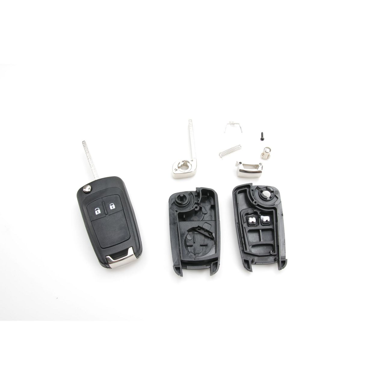 1x Schlüsselgehäuse + Schlüsselrohling 2-Tasten OPEL Astra J Insignia A