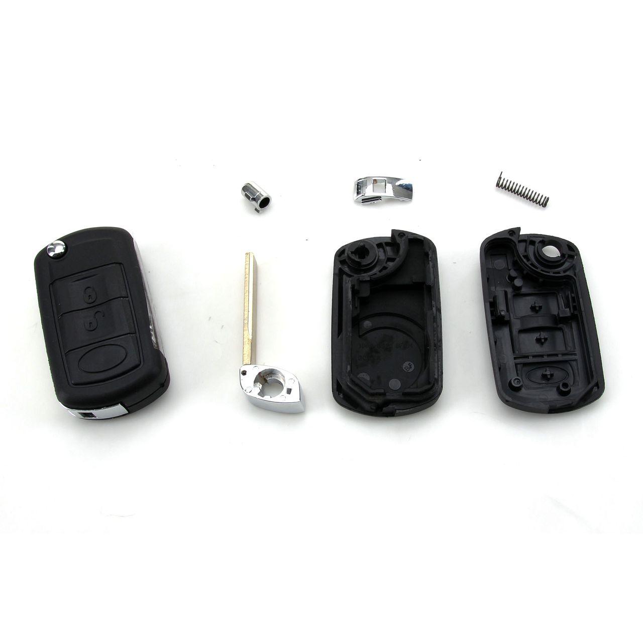 1x Schlüsselgehäuse + Schlüsselrohling 3-Tasten LAND ROVER Discovery III Range Rover