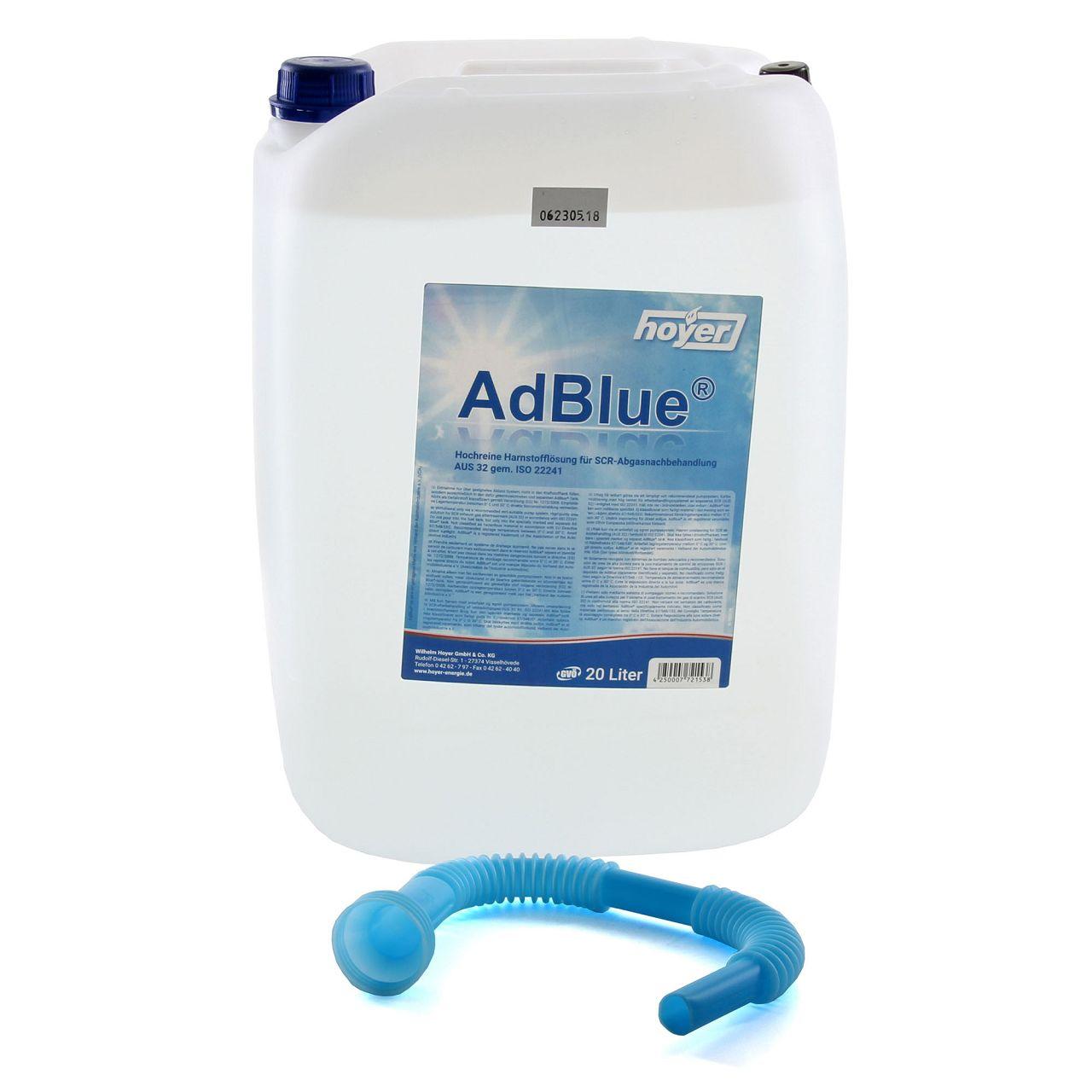 AdBlue® NOX-Reduktionsmittel für Diesel-Motoren Harnstoff ISO 22241 20-Liter