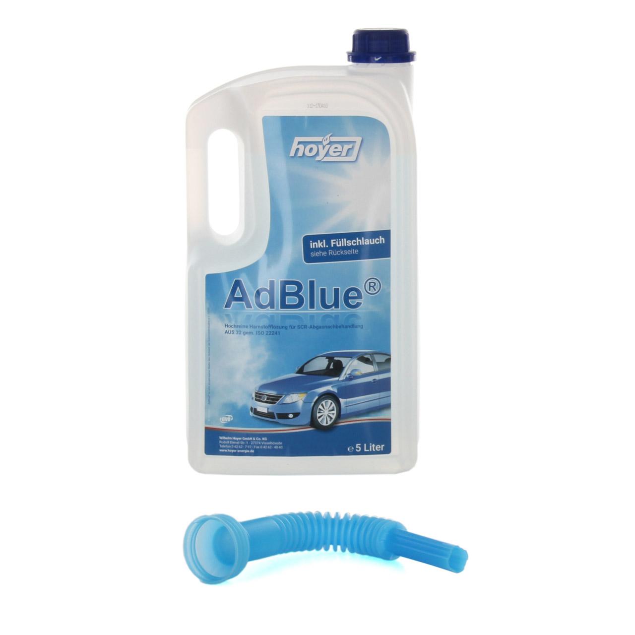 AdBlue® NOX-Reduktionsmittel für Diesel-Motoren Harnstoff ISO 22241 5-Liter
