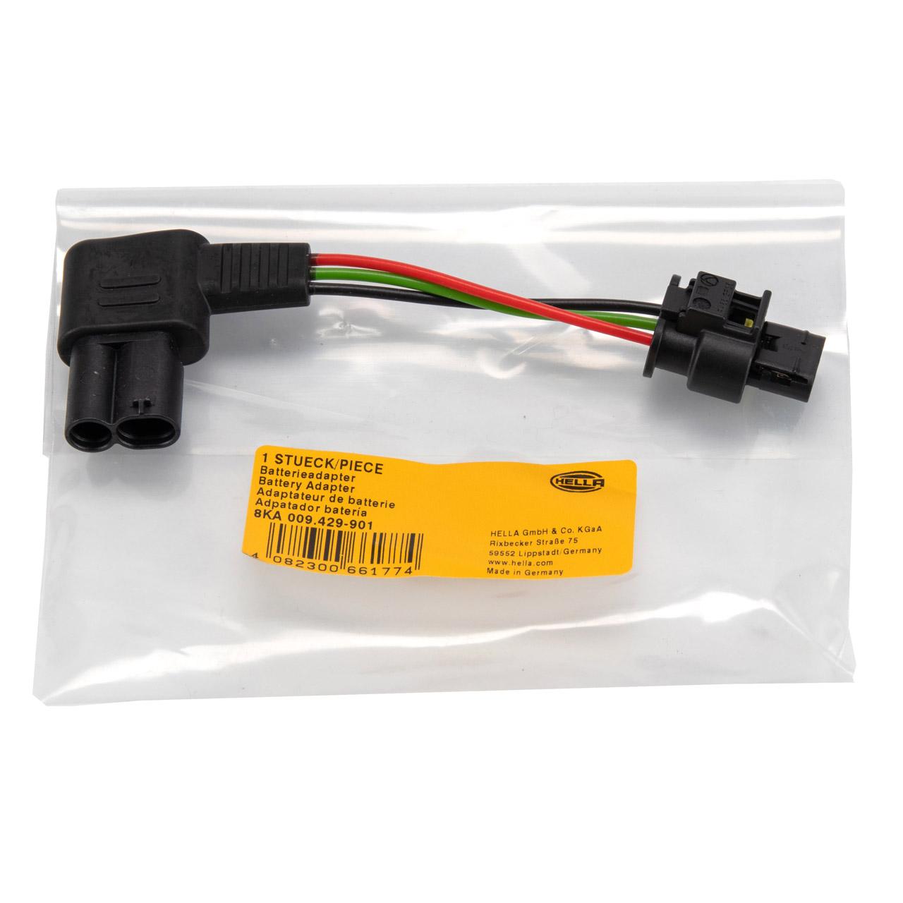 HELLA 8KA 009 429-901 Batterieadapter für Sensor Batteriemanagement 12V BMW 1er 3er 5er