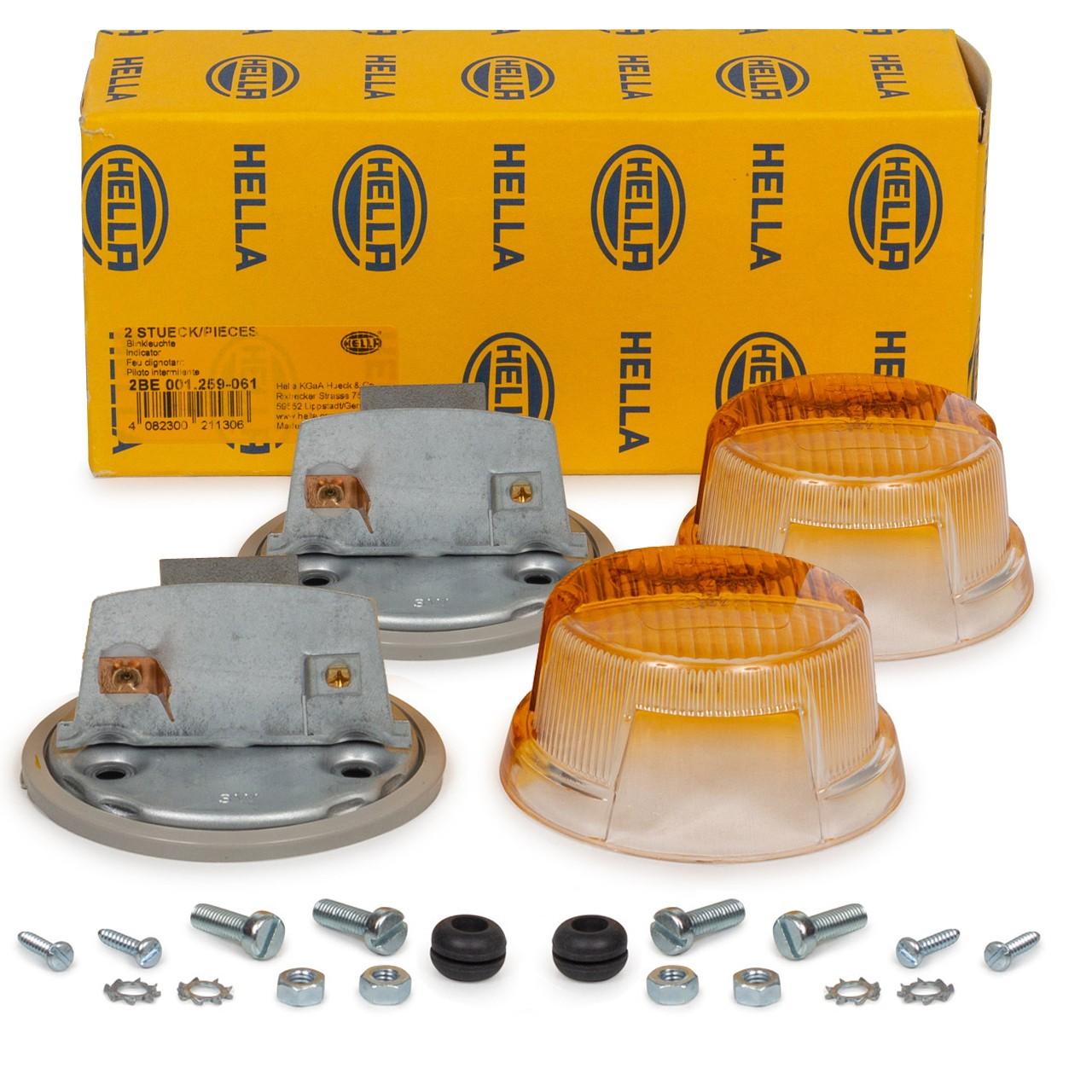 2x HELLA 2BE 001 259-061 Blinkleuchte Positionsleuchte Blinker OLDTIMER TRECKER