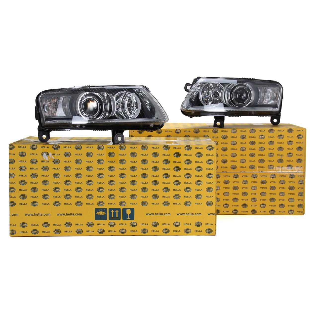 2x HELLA Hauptscheinwerfer + Stellmotor BI-XENON für AUDI A6 (4F C6) bis 10.2008