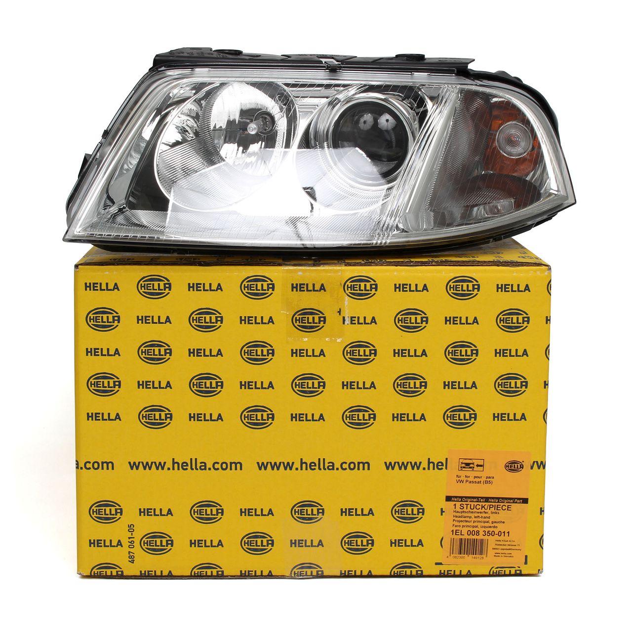 HELLA Hauptscheinwerfer Scheinwerfer HALOGEN VW Passat 3B links 3B0941015AN