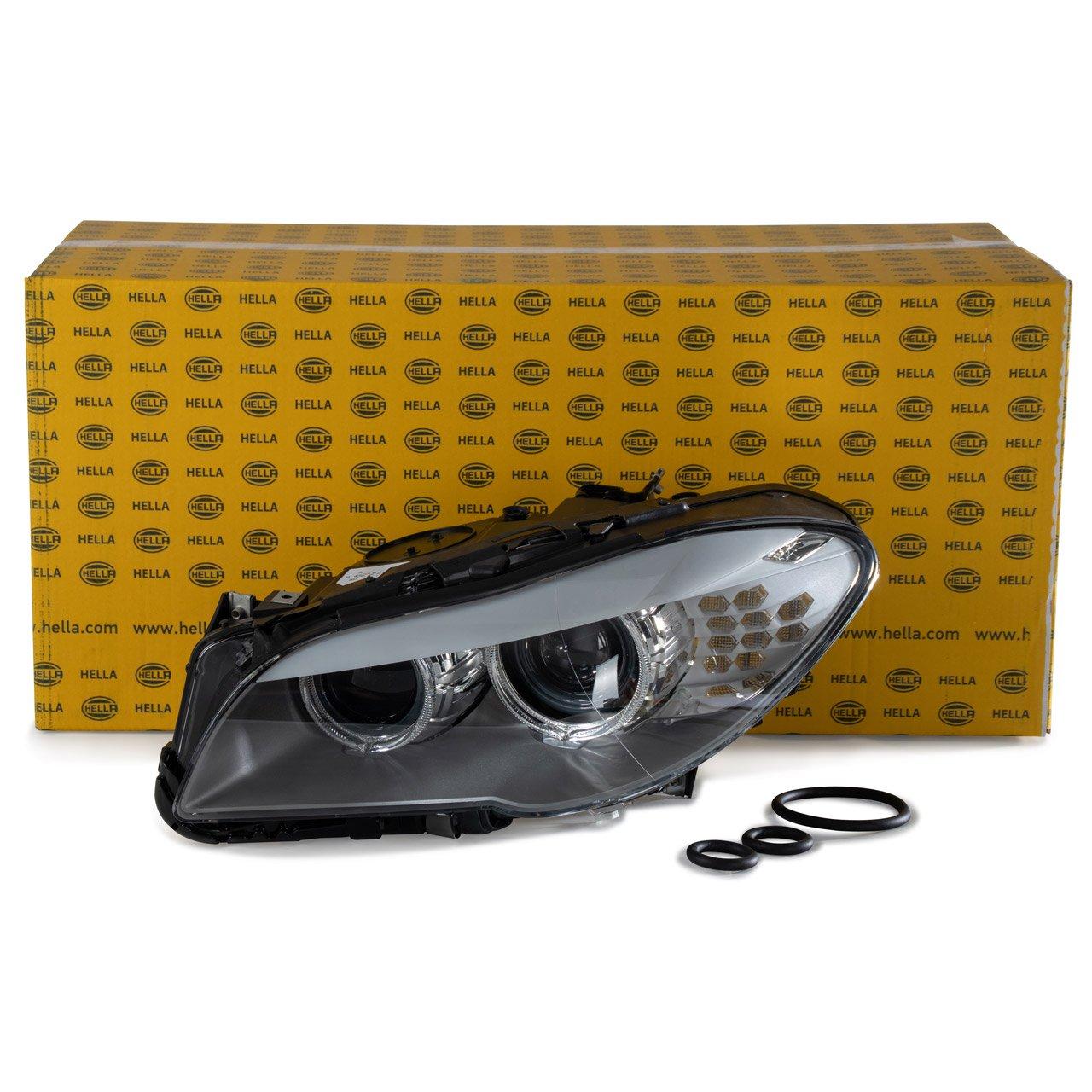 HELLA Hauptscheinwerfer + Stellmotor BI-XENON BMW 5er F10 F11 links 63117271911