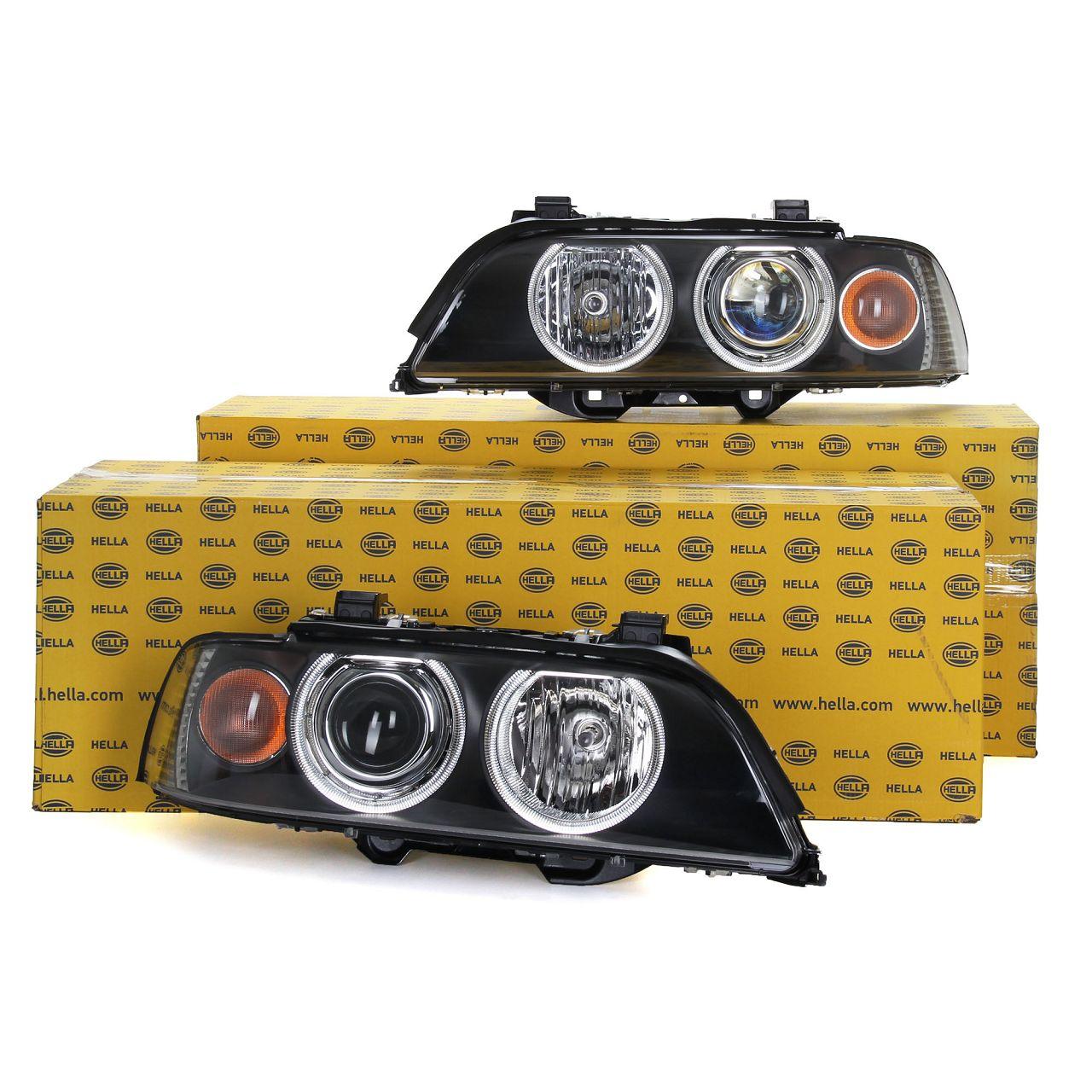 2x HELLA Hauptscheinwerfer + Stellmotor XENON für BMW 5er E39 LIMO + TOURING