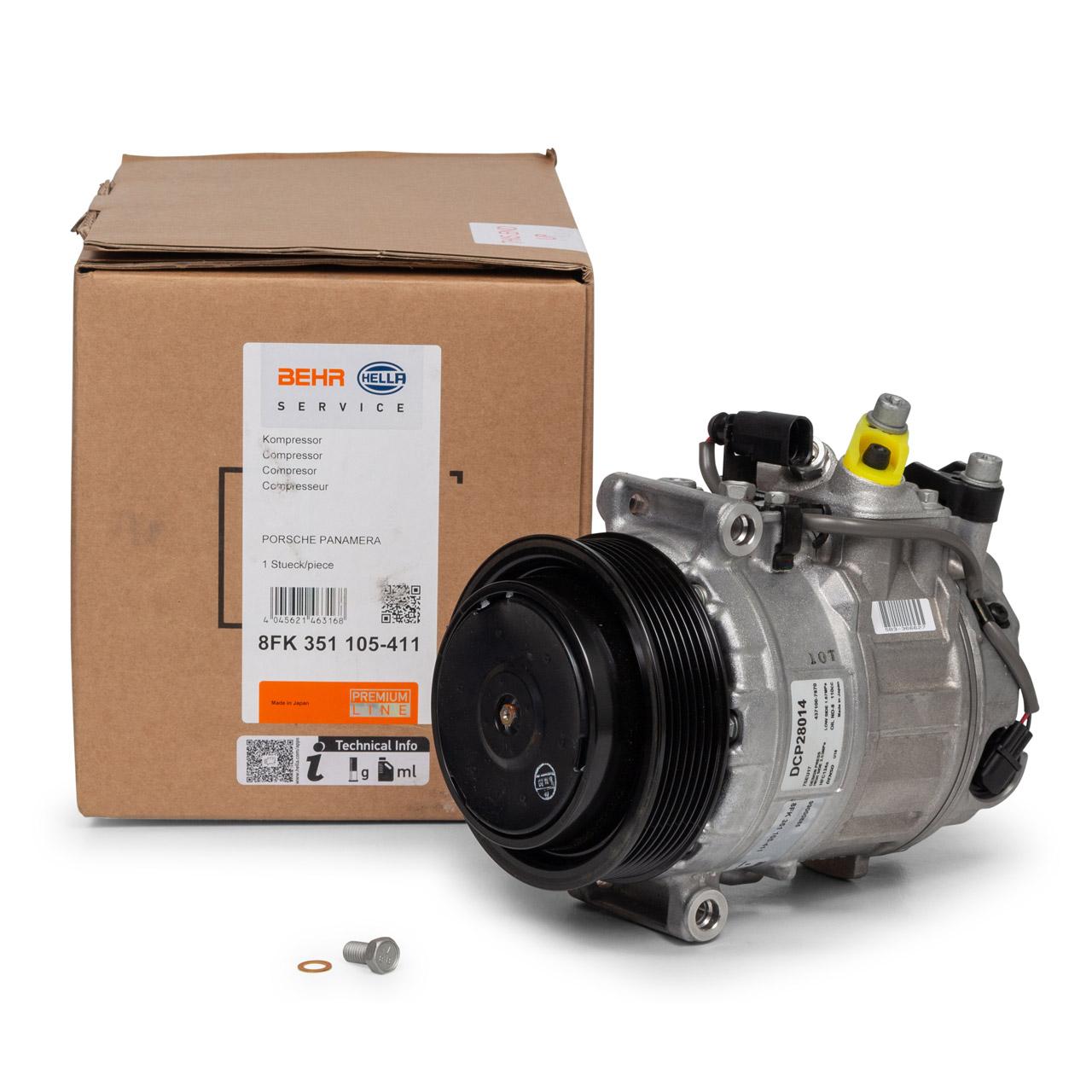 HELLA Kompressor Klimaanlage PORSCHE Panamera (970) 3.6 4.8 S / GTS 4.8 Turbo / S