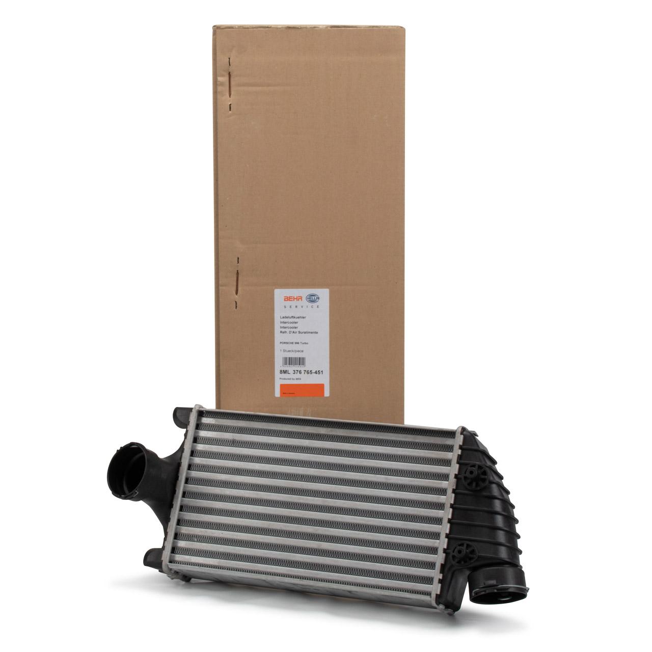 BEHR / HELLA Ladeluftkühler PORSCHE 996 3.6 Turbo 4 / 3.6 Turbo 4S links