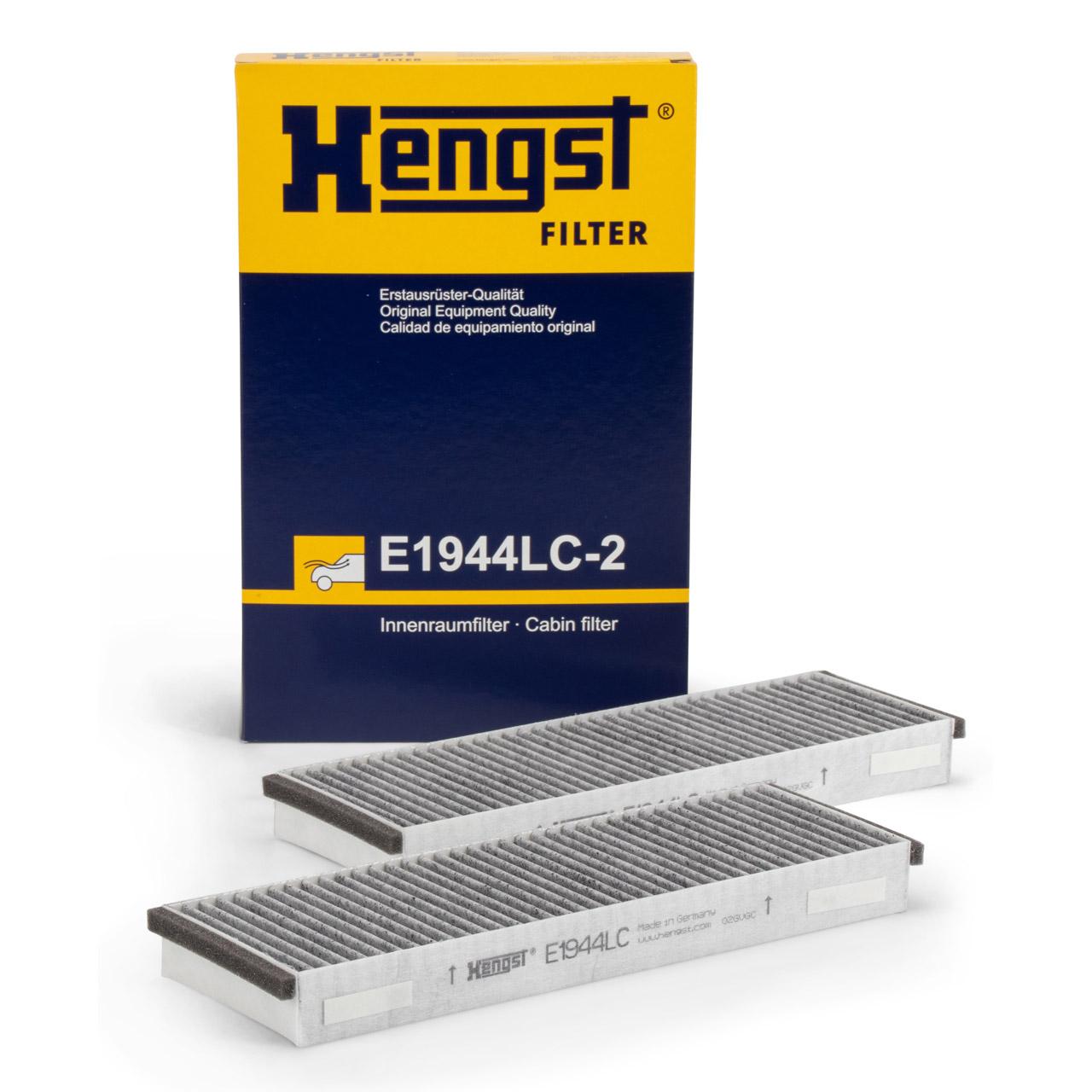HENGST E1944LC-2 Innenraumfilter Aktivkohle Satz für AUDI A6 (4F C6) R8 VW XL1
