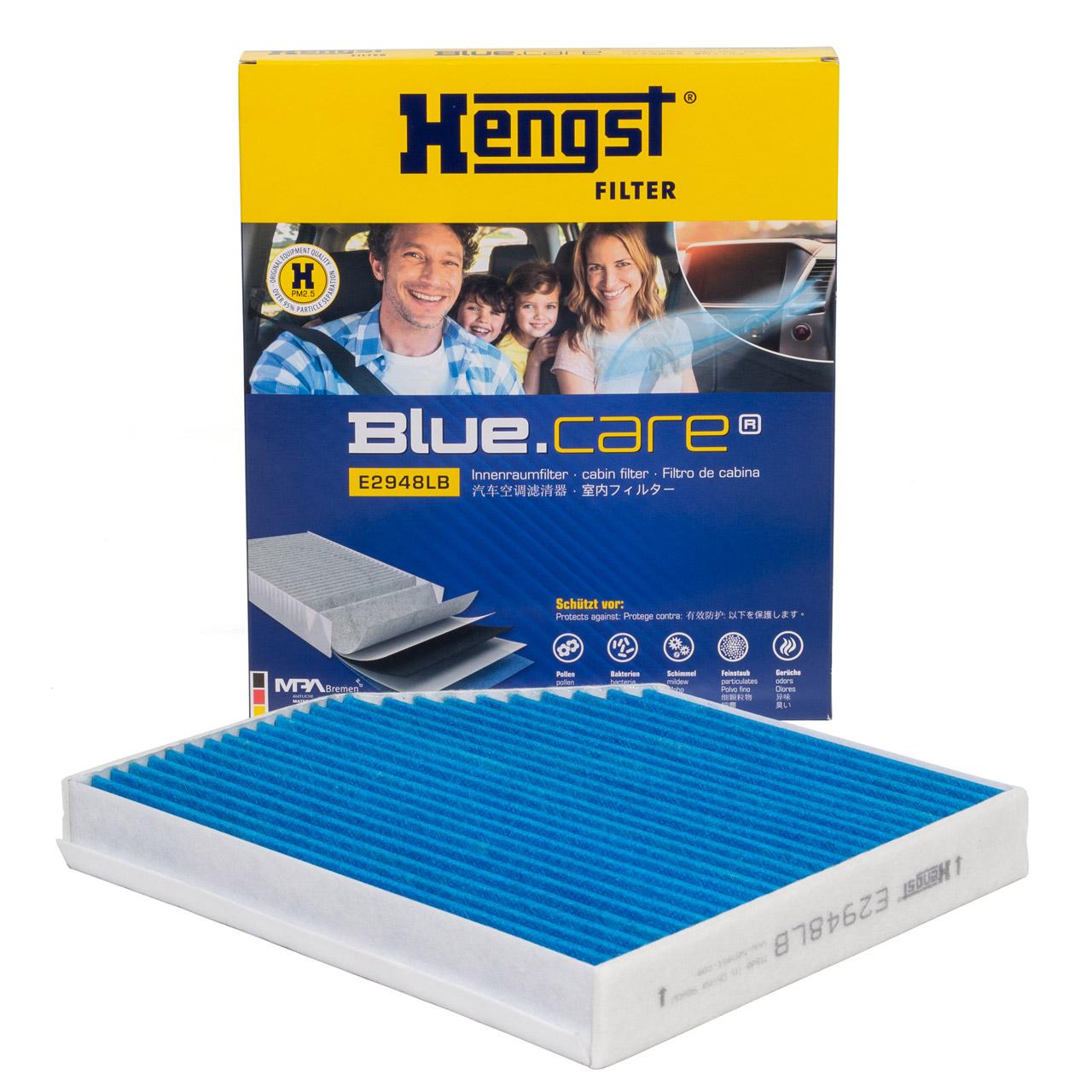 HENGST E2948LB BLUE CARE Innenraumfilter ANTIBAKTERIELL für AUDI A4 B8 A5 Q5 8R