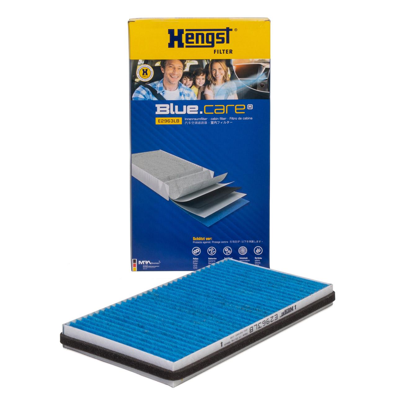 HENGST E2963LB BLUE CARE Innenraumfilter ANTIBAKTERIELL für BMW E60 E61 E63 E64