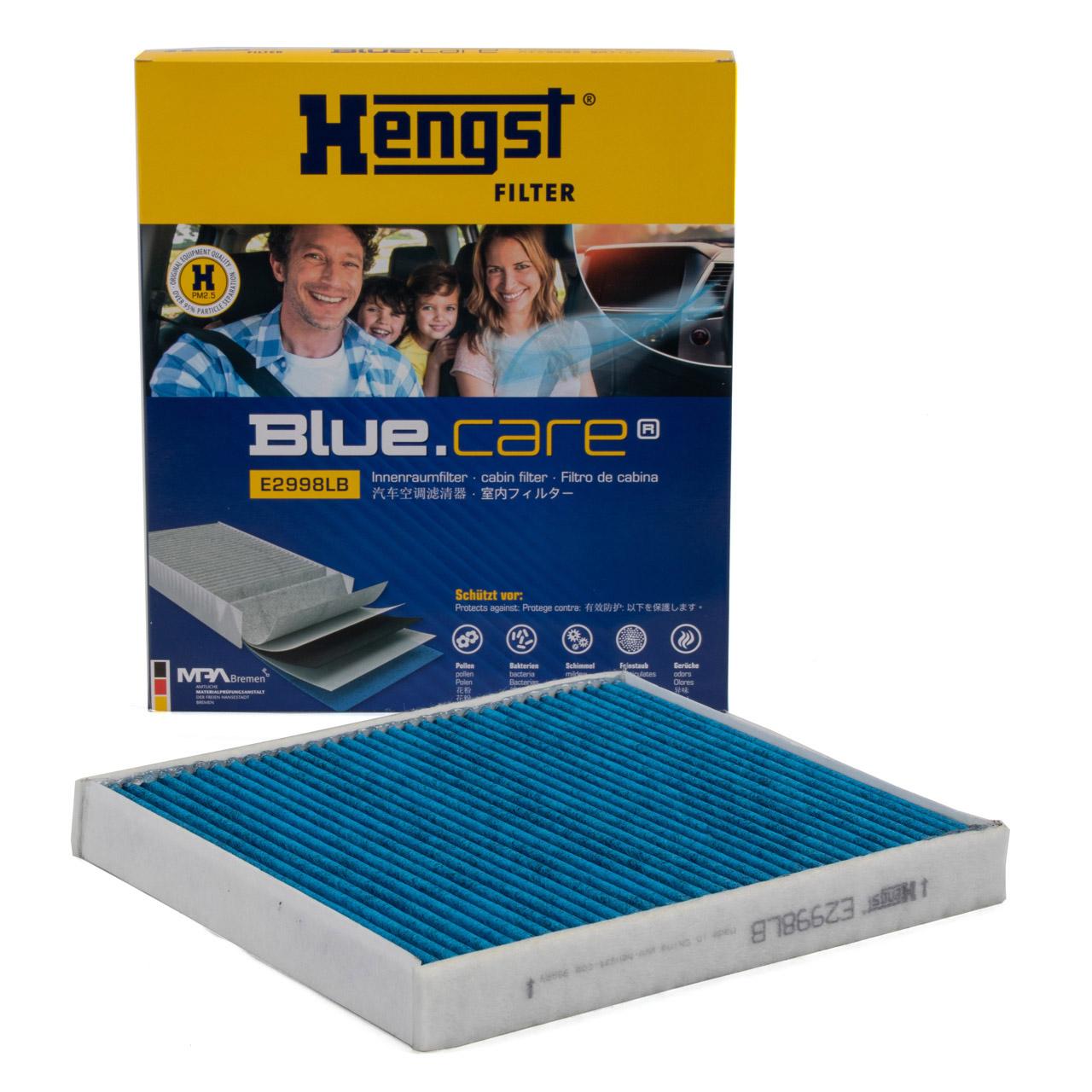 HENGST E2998LB BLUE CARE Innenraumfilter ANTIBAKTERIELL für AUDI SEAT SKODA VW