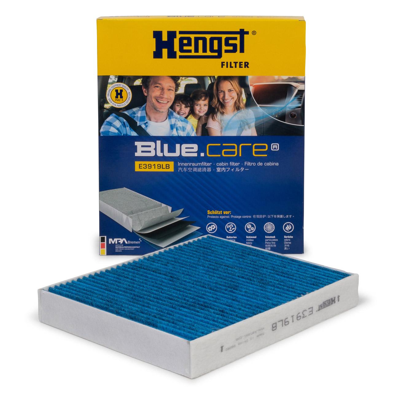 HENGST E3919LB BLUE CARE Innenraumfilter ANTIBAKTERIELL für AUDI SEAT SKODA POLO