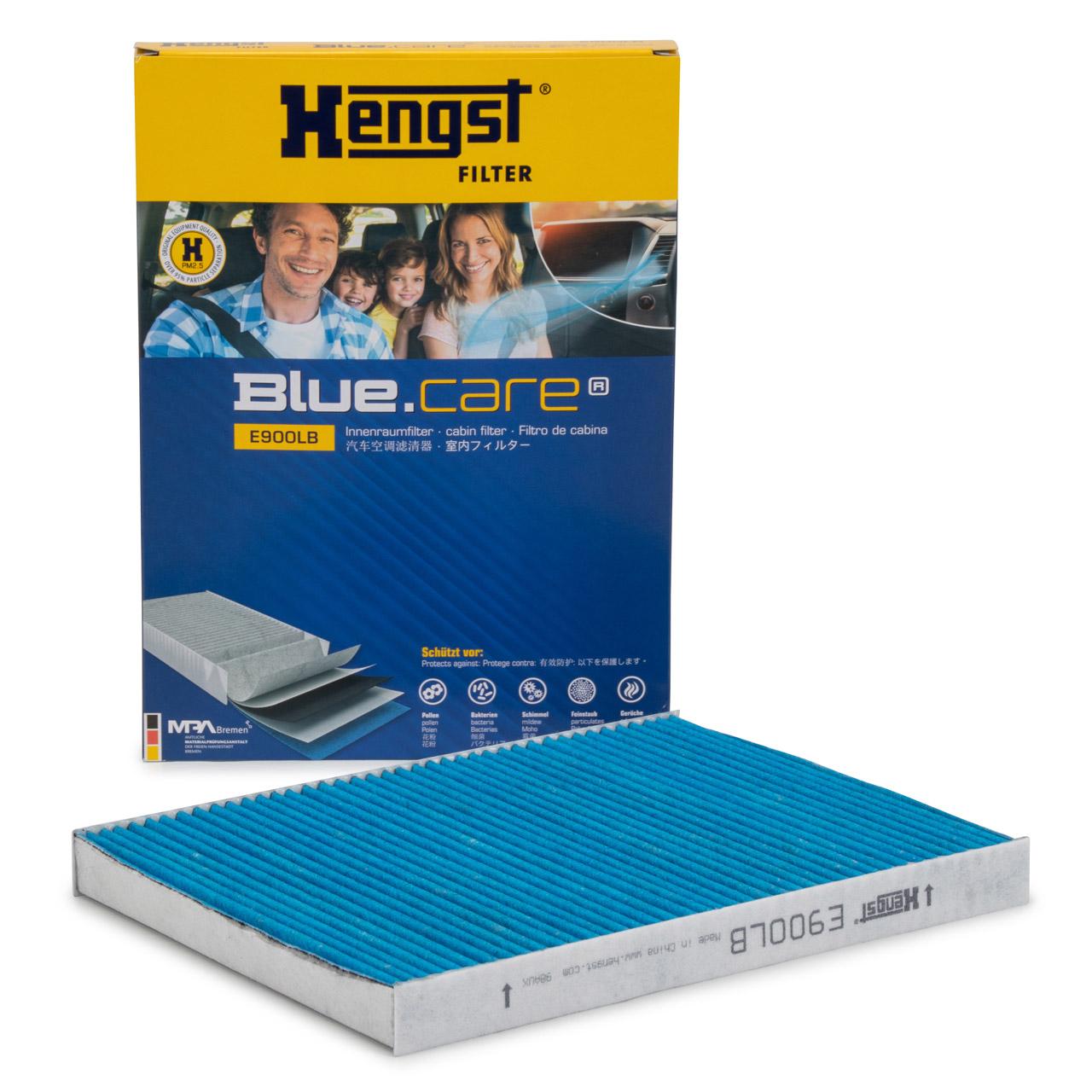 HENGST E900LB BLUE CARE Innenraumfilter ANTIBAKTERIELL für AUDI SEAT SKODA VW