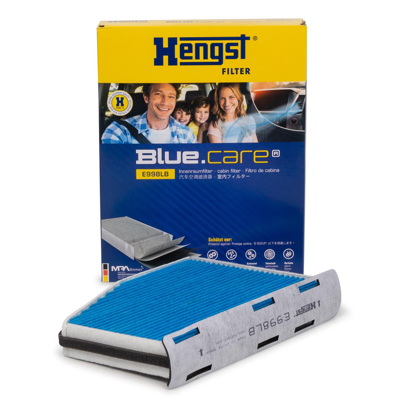 HENGST E998LB BLUE CARE Innenraumfilter ANTIBAKTERIELL für AUDI SEAT SKODA VW